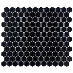 @Overstock - http://www.overstock.com/Home-Garden/SomerTile-11.75-in-Victorian-Hex-1-in-Matte-Black-Porcelain-Mosaic-Tiles-Pack-of-10/6296190/product.html?CID=214117 $84.99