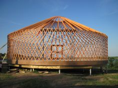 Walls & beams...building a YURT