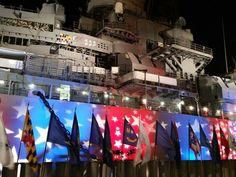 USS Missouri Pearl Harbor, Hawaii, patriotic display - happy 4th of July