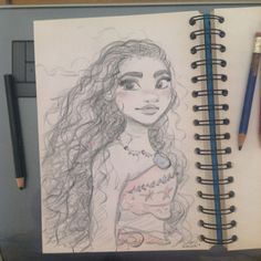 Quick doodle of Disney's Moana / Vaiana while working on My french comic Bichon… https://www.facebook.com/artofdavidgilson/