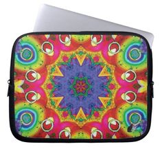 Spores Kaleidoscope Laptop Sleeve - This Kinetic Collage Kaleidoscope Laptop Sleeve will protect your laptop computer and serve as a mandala for meditation as well as a focal point for the imagination. Kinetic Collage kaleidoscope compositions are created from special effects video performance art screen capture images. Over 2600 products at my Zazzle online store. Open 24/7 World wide! http://www.zazzle.com/greg_lloyd_arts* + See KC @  http://www.youtube.com/user/kineticcollage