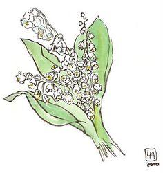 Muguets de mai. Muy Simple, Define Art, Plant Art, Les Oeuvres, Planting Flowers, My Arts, Artsy, Nature, India Ink