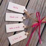 clay gift tags - for you {set of 4} - by mudbynest on madeit