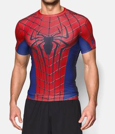 Men's Under Armour® Alter Ego Spider-Man Compression Shirt, Red, zoomed image