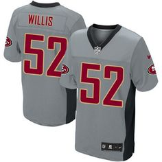 Nike Elite Youth San Francisco 49ers http://#52 Patrick Willis Grey Shadow NFL Jersey$79.99