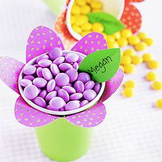 Flower Power Candy Cups