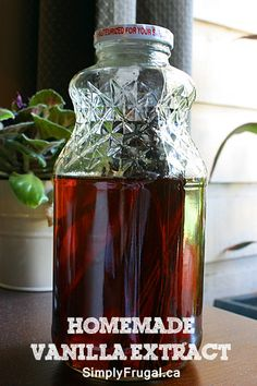 A Homemade Christmas Gift: Homemade Vanilla Extract!  Get it started now for Christmas gift giving!