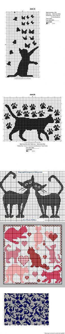 Grape filet work with diagram Cat Cross Stitches, Cross Stitch Bookmarks, Cross Stitch Charts, Cross Stitch Designs, Cross Stitching, Cross Stitch Embroidery, Cross Stitch Patterns, Crochet Cross, Filet Crochet