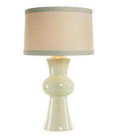 nice shape. Arteriors Gordon Ivory Crackle Porcelain Lamp