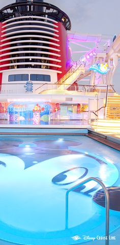 Children will love frolicking in this freshwater pool shaped like the world's most famous mouse. Click to learn more about Mickey's Pool, available onboard Disney Dream, Disney Wonder and Disney Fantasy ships!