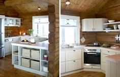 MOre on hytter. This is an example of a kitchen in one of the cabins Cabins, Kitchen Cabinets, Moon, Interiors, Home Decor, The Moon, Decoration Home, Room Decor, Kitchen Cupboards