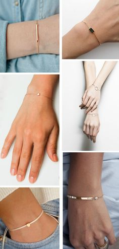 Delicate and stylish bracelets - size is not a document! - Delicate and stylish bracelets – size is not a document! Delicate Jewelry, Simple Jewelry, Cute Jewelry, Metal Jewelry, Pendant Jewelry, Jewelry Accessories, Fashion Accessories, Jewelry Design, Women Jewelry