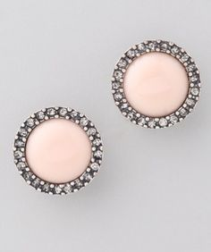 Light Pink Earrings Bridal Cute Stud Bridesmaid