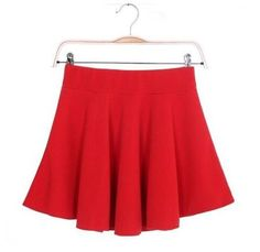 Newly Design Skater Skirts Sexy Women Mini Skirt High Waist Plain Style Flared Cotton Loose Fashion Pleated Hot Candy Color D007