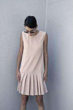 pastel drop waist dress