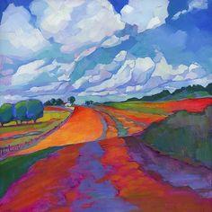 The mind of the illustrator: Scattered Showers | Louisiana Edgewood Art Paintings by Louisiana artist Karen Mathison Schmidt | Bloglovin'