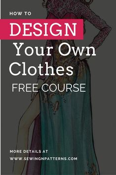 trendy sewing patterns free for beginners fun Sewing Lessons, Sewing Hacks, Sewing Tutorials, Sewing Tips, Sewing Ideas, Sewing Basics, Design Your Own Clothes, Make Your Own Clothes, Designing Clothes