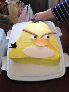 yellow angry bird cake!