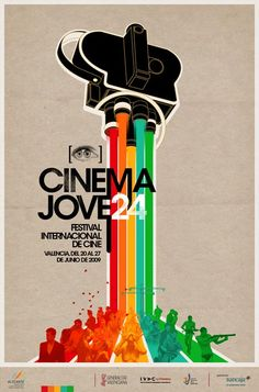 international film festival cinema jove poster design i Flyer Design, Graphisches Design, Layout Design, Poster Festival, Festival Cinema, Graphic Design Posters, Graphic Design Illustration, Poster Designs, Visual Design