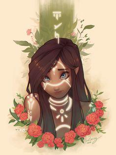 ArtStation - Runes, Zaiisey (Ana Viana) - female, character design