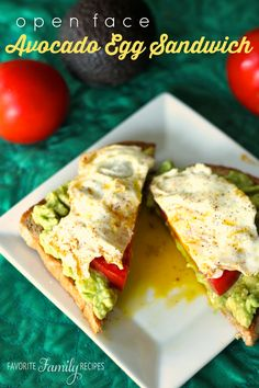 This Open Face Avocado Egg Sandwich is the perfect way to start your day! With school starting up again this month, quick and easy breakfasts are a must!