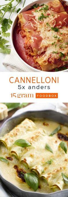 Cannelonni 5x anders Pork Recipes, Pasta Recipes, Vegetarian Recipes, Healthy Recipes, I Want Food, Food Tech, True Food, Happy Foods, Fusilli