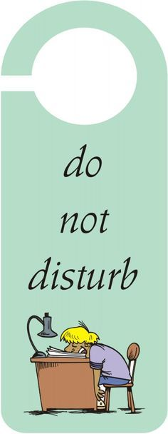 Persnickety image with do not disturb door hanger printable