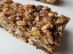 No-Bake Energy Bars - yum! #food #quick healthy treats #family #cooking