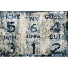 Baseball Scoreboard Wall Mural | PBteen