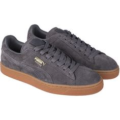 477204bf1885bc Puma The Suede Winter Gum Sneaker in Grey ( 60) ❤ liked on Polyvore  featuring