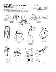 Routine stretches to help your neck, shoulders and arms