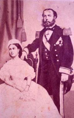 Archduke Maximilian of Austria, the ill-fated Emperor of Mexico (1832-1867) and his wife Princess Charlotte of Belgium (1840-1927)