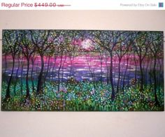 2 day Sale Large original oil painting palette by jeanvadalsmith, $291.85
