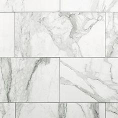 Avenza Bianco Polished Porcelain Tile - 12 x 24 - 100378207 Stone Look Tile, Wood Look Tile, Cottage Style Bathrooms, Chandelier Art, Polished Porcelain Tiles, Modern Master Bathroom, Master Bathrooms, Downstairs Bathroom, Small Bathroom