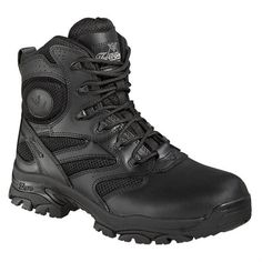 Thorogood Mens Black Leather Deuce Tactical 6in Police Boot