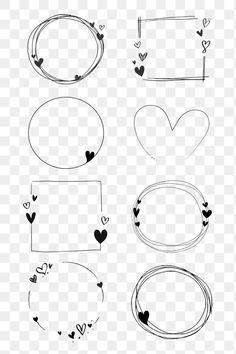 Bullet Journal Paper, Bullet Journal Lettering Ideas, Bullet Journal Writing, Bullet Journal Ideas Pages, Bullet Journal Inspiration, Free Doodles, Simple Doodles, Valentines Frames, Doodle Frames