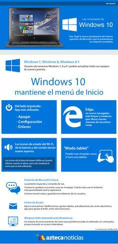 Las novedades de Windows #infografia