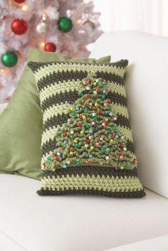 Free Crochet Christmas Pillow Pattern.
