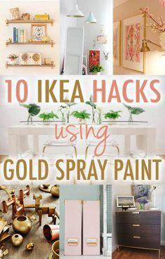 Ikea Hack DIY Gold Spray Paint