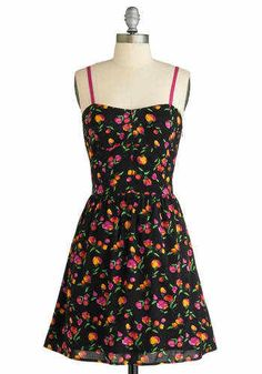 Nwt! ModCloth Retro Vintage Clothing All A-Grow Pink Floral Dress Sz S #ModCloth #Tiered #Casual