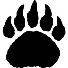 pin by abe bingham on tattoo ideas pinterest stencil designs rh pinterest com bear paw silhouette clip art bear claw clipart
