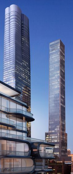 35 Hudson Yards (right - new design), former Equinox Tower and E Tower, Hudson Yards Development, 11th Avenue - West 33rd Street, New York City by David Childs of Skidmore, Owings & Merrill (SOM) Architects :: 79 floors, height 304m :: proposed, AFC
