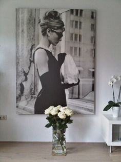 I have to have a photo of Audrey Hepburn, my style icon, somewhere in the room! She inspires me so much and whenever I see her on my wall I smile. She was a remarkable person.