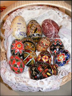 Traditional Ukranian Easter eggs