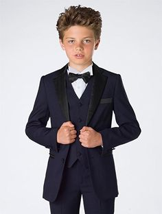 Paisley of London, Boys Navy Tuxedo, Boys Prom Suit, Boys Navy Suit, Slim Fit Suit, 12-18 months - 13 years: Amazon.co.uk: Clothing