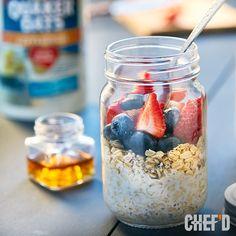 Strawberry Blueberry Overnight Oats - Recipe | QuakerOats.com