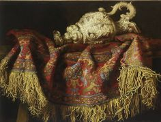 Still-life With Carpet. Francesco Fieravino (Maltese, circa 1610–1670).