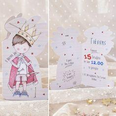 #προσκλητήριο #βάπτισης #prince @ 4LOVEgr we #love #celebrations #invitations - Always #happy to #work with #flowers and #decoration and give unic #style to #weddings #baptisms #christening #party #birtdays and every #event - Concept Stylist #Μάνθα_Μάντζιου & Floral Artist #Ντίνος_Μαβίδης