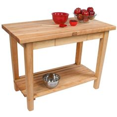 The John Boos Country work table fits perfectly in a traditional or modern kitchen. It's design is beautiful yet simple, made completely of premium northern hard rock maple.