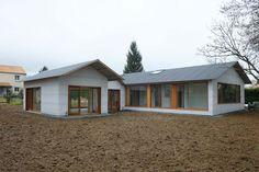 Tact architectes – Restructuration et extension d'un hangar en maison individuelle au Cellier (44)